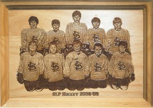 Team Hockey Plaque