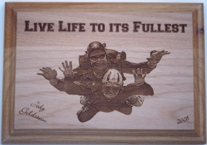 Jody's Skydiving Plaque